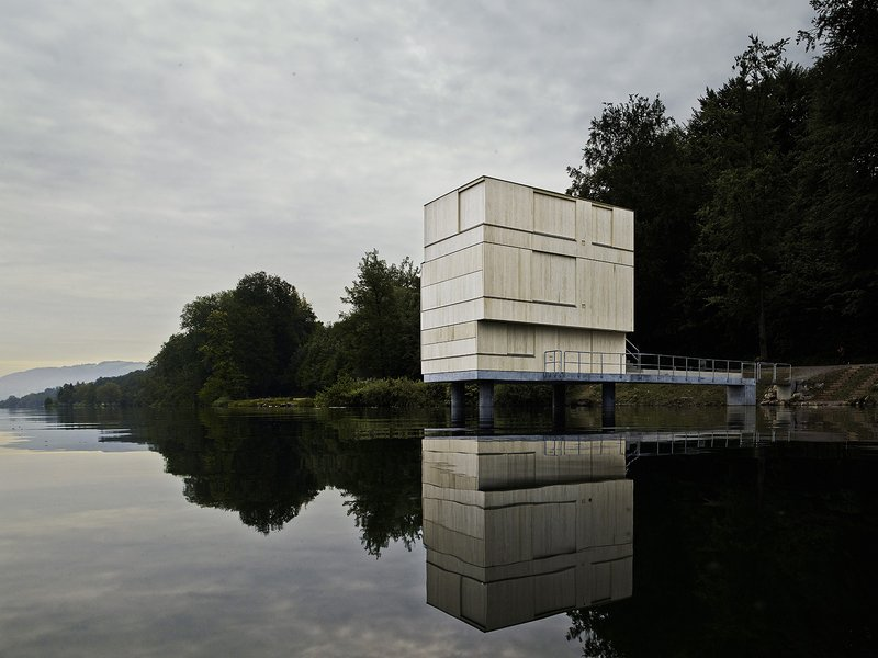 Andreas Fuhrimann / Gabrielle Hächler / Carlo Fumarola / Gilbert Isermann: Rotsee Finish Line Tower - best architects 16 in Gold
