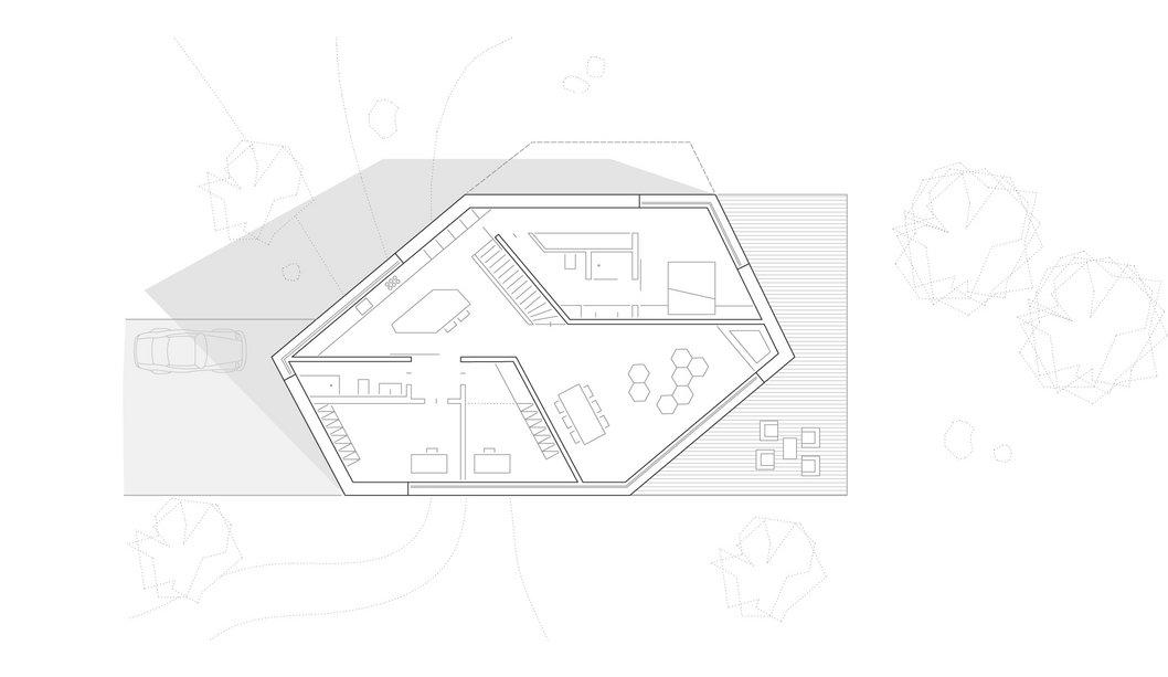 Erdgeschoss E20 Wohnhaus Steimle Architekten