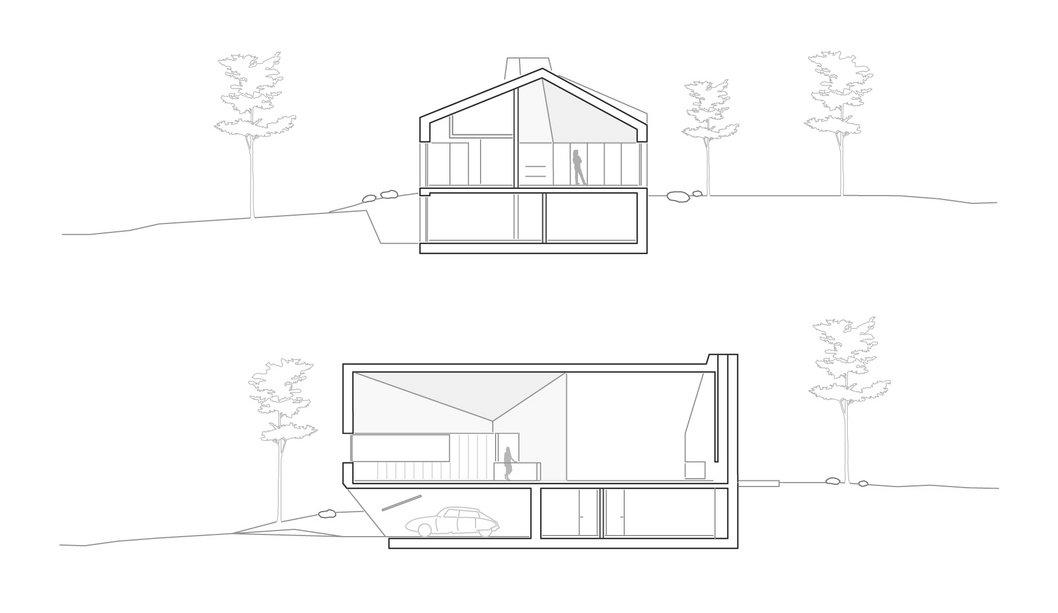 Schnitte E20 Wohnhaus Steimle Architekten