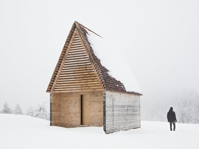 Architekt DI Hannes Sampl: Bergkapelle Kendlbruck - best architects 19 in gold