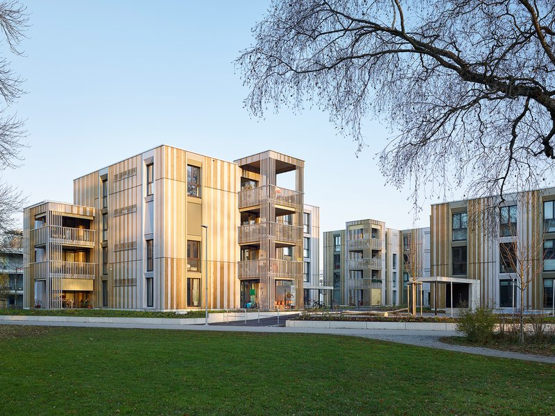 Ernst Niklaus Fausch Partner AG: Aarenau Apartment Complex - best architects 21