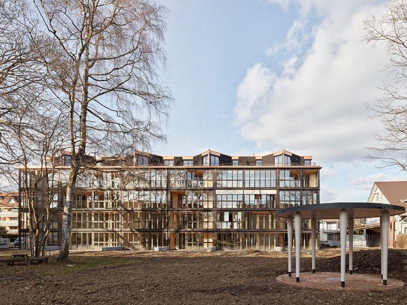 Edelaar Mosayebi Inderbitzin Architekten: Wohnhaus Schulstrasse - best architects 22 in Gold